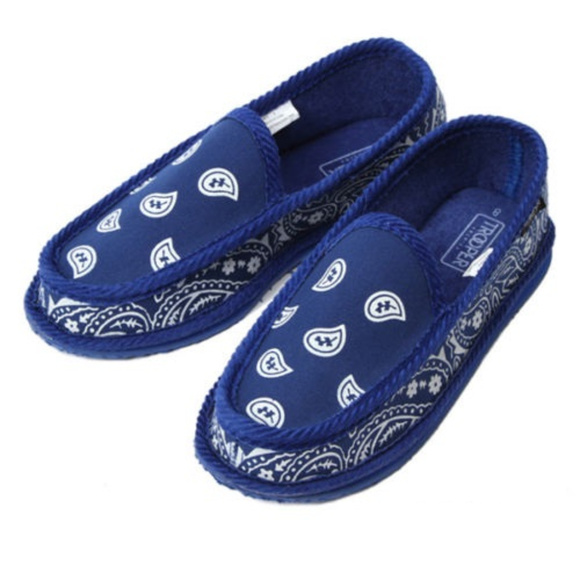 bb428d570 Trooper America Shoes | Mens Bandana Print Slipper Shoe | Poshmark